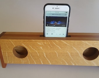 Passive Cell Phone Speaker, Great Gift, Handmade, Hardwoods, Great Sound