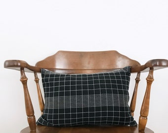 "14""x20"" Black check Pillow Cover"