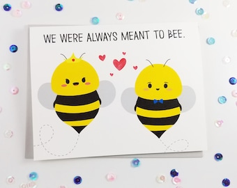 Bee greeting card etsy bee love card bee pun greeting card funny bee joke love anniversary card pun cards clever note bumble bee pun i love you card m4hsunfo