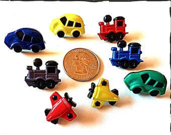 Tube Trinkets:  Planes, Trains and Automobiles!  Great for boys or girls!  Please select quantity 2 for a pair!