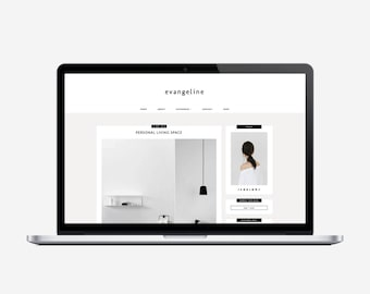 EVANGELINE - Responsive Blogger Template - Sticky Navbar, Simple, Chic, Minimal, Sleek