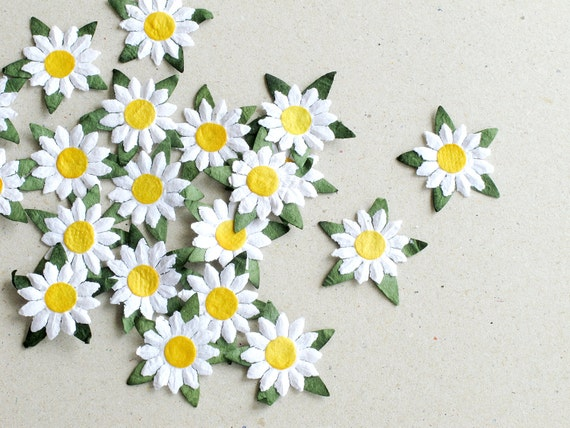 25mm white die cut daisy 20 flat paper flower with yellow centre 25mm white die cut daisy 20 flat paper flower with yellow centre great for scrapbooking and creative craft projects from squishnchips on etsy studio mightylinksfo