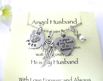 Husband Memorial, Husband Memorial Jewelry, Angel Husband, Husband Bereavement, Loss of Husband, Husband Loss