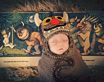 Newborn Photo Prop Baby Boy Where the Wild Things Are