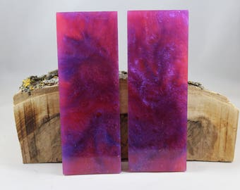 2 Pcs Purple and Magenta Composite Knife Scales (36)