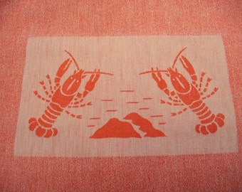 A rare old towel or vintage crustaceans, adult bib
