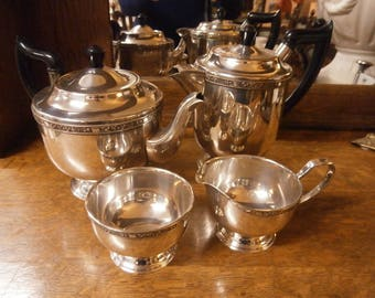 Viners of Sheffield Silver Plate Tea Service - Vintage