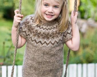 Ásdís - pattern for Icelandic lopapeysa vest for kids / lopapeysa wool cardigan tee circular yoke raglan einband plötulopi children unisex