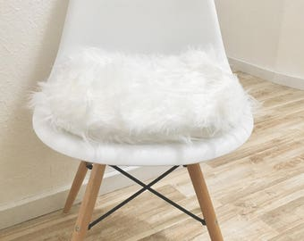 More Colors. White Chair Pillow Eames Pillow Faux Fur Chair ...