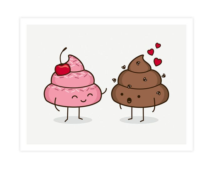 Love Sucks Art Print - Cute Doodles