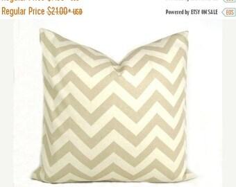 15% Off Sale PILLOW, Throw Pillow Cover, Tan Pillow, Chevron Pillow, Cream Pillow,  Pillow Sham, Accent pillow, Couch Pillow