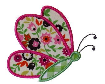 "Butterfly Flying By Appliques Machine Embroidery Designs Applique Pattern in 3 sizes 4"", 5"" and 6"""