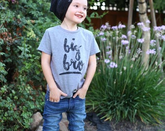Big brother, big bro, lil bro, big brother shirt, big brother tee, trendy toddler, cute kids clothes, graphic tee, new baby, announcement