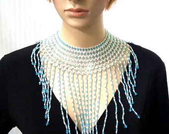 Turquoise Crystal Goddess Collar Necklace
