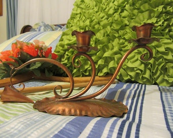 Candlestick Holder Gregorian Copper Hand Hammered with Snuffer 421 Home Decor Romantic Lighting