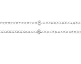 5 ft, Sterling Silver 1mm Satellite Chain w/ 2mm Bead Chain (GP-SS2315)