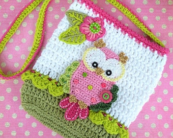 Crochet pattern - Owl purse by VendulkaM - crochet bag pattern, digital, DIY, pdf