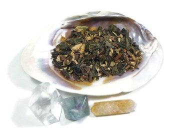 Tea Sample - Black Swan -  green tea - loose leaf tea - Cinnamon and spice