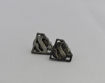 Earrings - superman post earrings