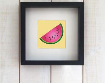 Watermelon INSTANT DOWNLOAD Image, Watermelon Art, Kitchen Fruit - DD022/Y