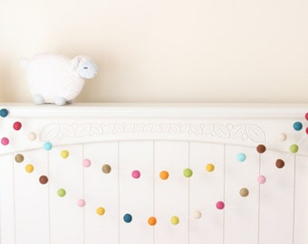 One Upon a Time Garland- Girl Nursery Decor- Baby Room Decor- Felt Ball Garland- Pom Pom Garland- Baby Shower Decor- Baby Girl Decor- Pink