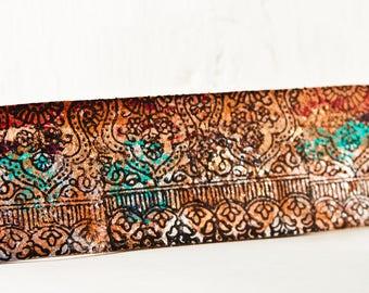 Rainwheel Leather Jewelry Cuff Bracelet for Women Handmade OOAK