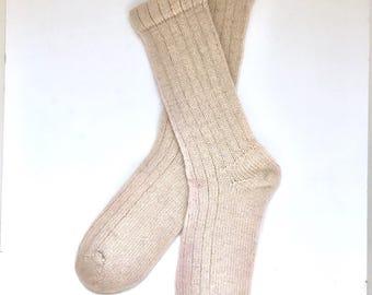 Handmade Wool Socks 420 -- Women's Size 9-11 or Men's Size 7-9