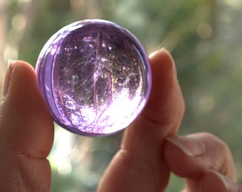 Light Purple Crystal Ball Huge Glass Ball 39mm Large Marble Big Glass Marble Vintage Marble Colorful Sphere Collectors Marble dorm decor