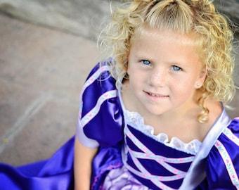 Cute Girls Purple Princess Rapunzel Costume Gown NEW lavender, dress-up, pretend play, halloween, christmas gift, birthday dress, adorable