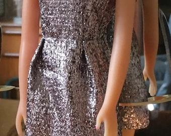 Anouk Silber mod Stil benutzerdefinierte Kleid in high-End-lame