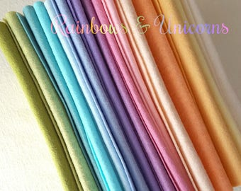 Rainbows and Unicorns Wool Blend Felt Collection - 15 9x12 Sheets