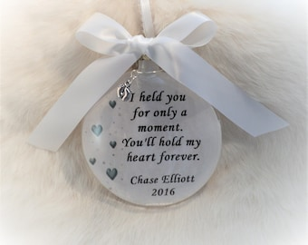 Baby Loss Memorial Ornament, Free Personalization and Charm, I Held You For Only A Moment, In Memory, Bereavement