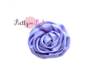 Lavender Isabella Collection Ruffled Rosettes- You Choose Quantity- Rolled Rosettes- Rolled Rosettes- Rosettes- Flower- Supply- DIY Headband