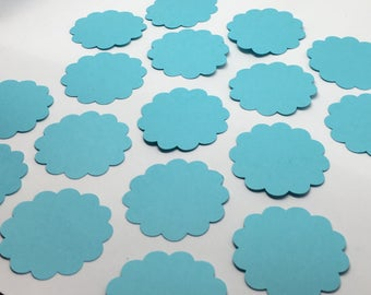 25 Cardstock Scalloped Circles - Many Sizes Many Colors