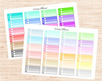 Small Checkbox Functional Basics (matte planner stickers, Erin Condren, Happy Planner)