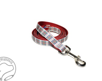 Dress Stewart Tartan Leash // Matching Tartan Dog Leash in all widths // custom lengths // Plaid Leashes // Tartan Lead // Handmade