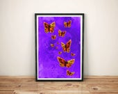 butterfly art print /  na...