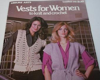 Vests For Women 1979 Leisure Arts Leaflet 141