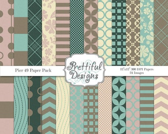 Digital Paper Pack  - Personal and Commercial Use - Pier 49