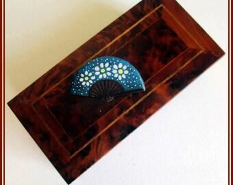 Broche de abanico artesanal, Hecho a mano, regalo para ella, pin de abanico, regalo parar la madre, boche veraniego