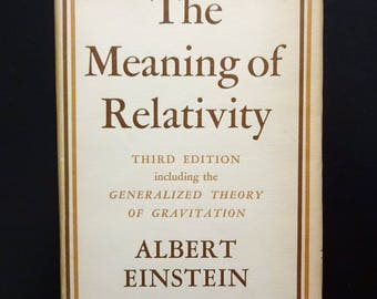 1950 ALBERT EINSTEIN - The Meaning of Relativity with Gravitation Theory, 3rd Edition