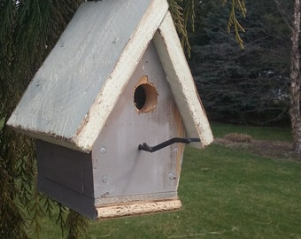 Weathered Grey Chickadee House