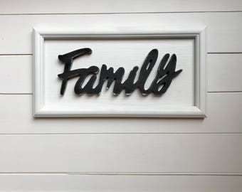 Family Sign, Wood Sign