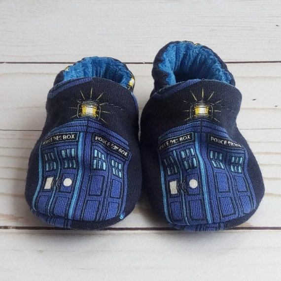 Tardis: Soft Sole Baby Shoes 0-3M