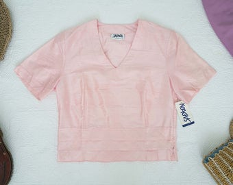 Avant Garde Pink SILK Crop Top