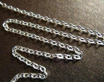 2x1.6 mm Sterling Silver Chain by the Foot, FLAT CABLE Upgrade, wholesale ss s80 hp
