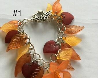 Lovely Lucite Petal / Leaf Bracelets
