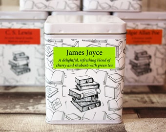 James Joyce Inspired Tea - Author - Literary Tea Collection - Tea Gift - Literary Tea Gift - Bookish Gift - Author Gift - Tea