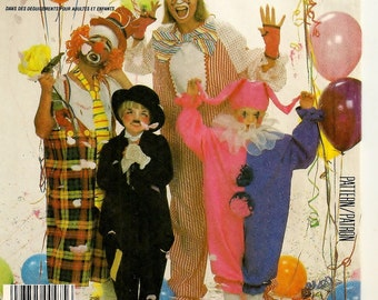 A Set of Childrens' Clown Costumes Pattern: Includes Jumpsuit, Collar, Bib-Style, Jacket, Hat and Pants - Uncut - Size 2-4 • McCall's 2211