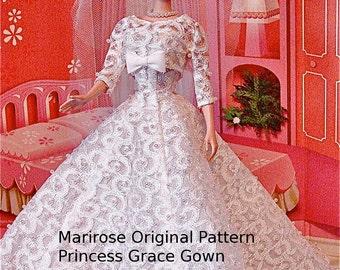 Princess Grace Gown PDF PATTERN  for Barbie instant download!